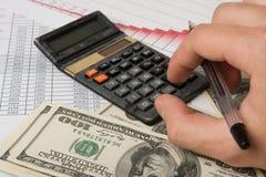 Calcolo degli schemi di finanze Fotografia Stock Libera da Diritti