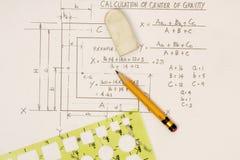 Calcolo del centro di gravità immagine stock libera da diritti