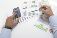 Calcolo di affari Immagini Stock