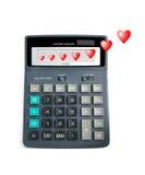 Calcolo di amore. fotografia stock