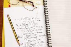 Calcolo di disegno Fotografia Stock
