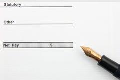 Calcolo finanziario Immagini Stock