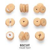 Calcolo senza cuciture dei lati differenti del modello della fragola del biscotto dei biscotti Immagine Stock