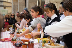 Calcotada -  gastronomical event in Catalonia Stock Photography