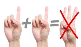 Calcul d'erreur Image libre de droits
