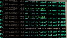Calcul d'exploitation de Cryptocurrency clips vidéos