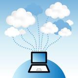 Calcul de nuage Photographie stock