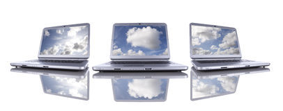 Calcul de nuage photo stock