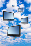 Calcul de nuage Photos stock