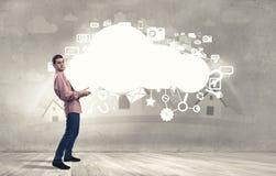 Calcul de nuage Photo libre de droits