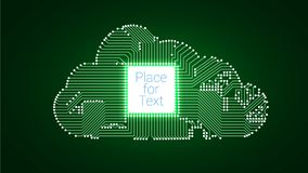 Calcul de nuage de circuit illustration de vecteur