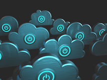 Calcul de nuage de puissance Photos stock