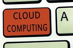 Calcul de nuage des textes d'écriture de Word Concept d'affaires pour l'usage un réseau des serveurs distants accueillis sur l'In images libres de droits