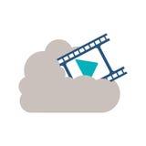 Calcul de nuage et conception d'isolement de film Image stock
