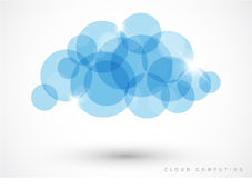 Calcul de nuage - illustration de vecteur Photos stock