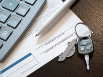 Calcul de prêt automobile Image stock