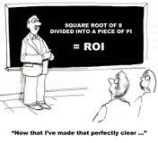 Calcul du ROI illustration libre de droits
