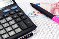Calcul financier photo stock