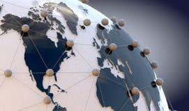 Calcul global de télécommunication et de nuage images libres de droits