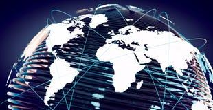 Calcul global de télécommunication et de nuage photographie stock