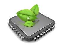Calcul vert Photographie stock libre de droits