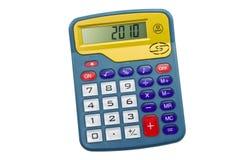 Calculadora aislada en blanco Foto de archivo libre de regalías