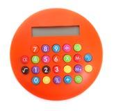 Calculadora anaranjada Imagen de archivo libre de regalías