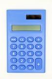 Calculadora azul Fotos de Stock Royalty Free