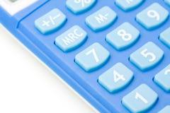Calculadora azul Imagen de archivo libre de regalías
