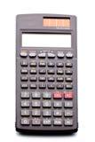 Calculadora científica en el fondo aislado Foto de archivo libre de regalías