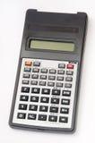 Calculadora científica en el fondo blanco Fotos de archivo libres de regalías
