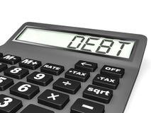 Calculadora com departamento na exposição Imagens de Stock Royalty Free