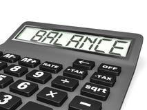 Calculadora com EQUILÍBRIO na exposição Foto de Stock