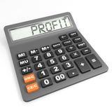 Calculadora com lucro na exposição. Foto de Stock