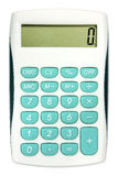 Calculadora com os botões da cor de turquesa Foto de Stock Royalty Free