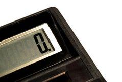 Calculadora con cero en la exhibición Foto de archivo libre de regalías