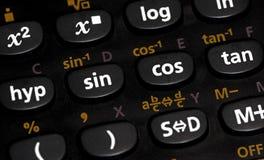 Calculadora - conceito da matemática/ciência imagens de stock royalty free