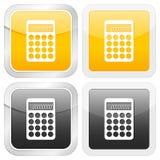 Calculadora cuadrada del icono Imagen de archivo
