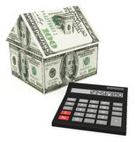 Calculadora da hipoteca Imagens de Stock