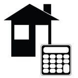 Calculadora da hipoteca Imagem de Stock