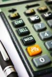 Calculadora da margem Imagens de Stock Royalty Free