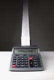 Calculadora da série da despesa da planta do estímulo Foto de Stock Royalty Free
