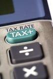 Calculadora da taxa de imposto Fotografia de Stock