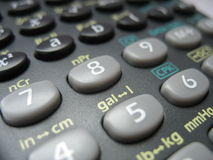 Calculadora de bolsillo Fotos de archivo libres de regalías