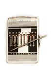 Calculadora de bolsillo manual Imagenes de archivo