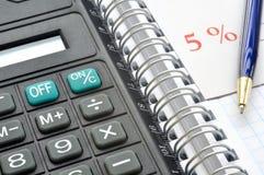 Calculadora de bolso Fotografia de Stock