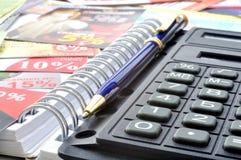 Calculadora de bolso Fotos de Stock