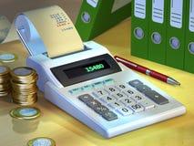 Calculadora de la oficina Foto de archivo libre de regalías