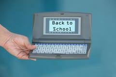 Calculadora de nuevo a escuela Foto de archivo libre de regalías