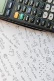 Calculadora del botón del primer Foco selectivo imagen de archivo
